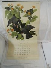 Vintage 1949 Audobon Bird Calendar Lithograph Northwestern Mutual Life Co.