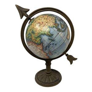 Vintage Robert De Vaugondy Globe Terrestre With A Cast Arrow Base Home Decor