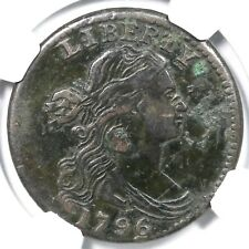 1796 S-108 R-4 NGC VF Details Draped Bust Large Cent Coin 1c