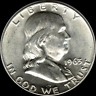 """A 1963 P Franklin Half Dollar 90% SILVER US Mint """"About Uncirculated"""""""
