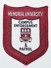 MEMORIAL UNIVERSITY Campus Emforcement & Patrol Canadian Police patch Canada