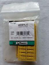 UICIDYL-C PANDUIT Plastic Snap-In Port Identifier Mini-Com Data Icon Yellow 100