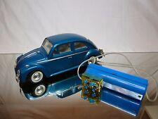 HONG KONG BANDAI? PLASTIC VW VOLKSWAGEN BEETLE - BLUE L27.0cm RC REMOTE - GOOD