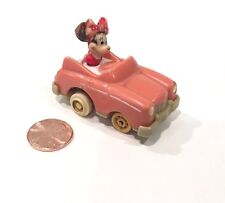"""Vintage Minnie Mouse In Pink Car Miniature 2"""""""
