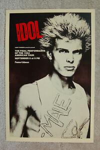 Billy Idol Concert tour poster 1984 Nassau Coliseum---------------