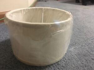 2 New Drum Lamp Shades