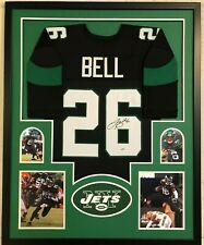 FRAMED NEW YORK JETS LE'VEON BELL AUTOGRAPHED SIGNED JERSEY PSA COA