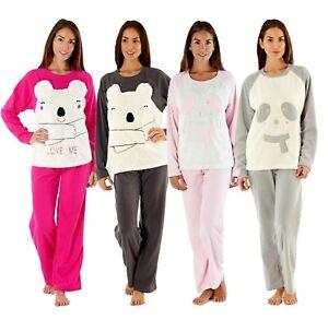Selena Secrets Womens Cici Bear Scarf Ladies Luxury Soft Pyjama Top & Bottoms