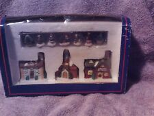 Holiday Time Village Collectible House And Figure Set