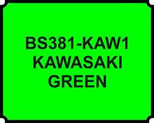 Cellulose Car Body Classic Vintage Paint BS381-KAWASAKI LIME GREEN Gloss