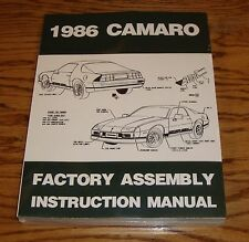 1986 Chevrolet Camaro Factory Assembly Instruction Manual 86 Chevy