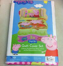 PEPPA PIG MUDDY PUDDLES SINGLE QUILT COVER SET~~BNIP