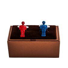 Foosball Player Cufflinks Red & Blue Soccer Wedding Fancy Gift Box Free Ship USA