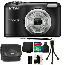 Nikon COOLPIX A10 16.1 MP Compact Digital Camera (Black) + Great Value Bundle
