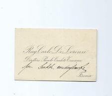 Biglietto Ragioniere Carlo De Lorenzi Direttore Piccolo Credito Toscano Firenze