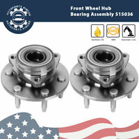 2xFront Wheel Hub Bearing Assembly for GMC Chevy Truck 4x4 6 lugs Replace 515036
