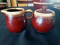 Vintage McCoy Pottery Brown Drip Glaze Design sugar and creamer 7020