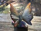 Daum Pate De Verre Butterfly - handmade in France - signed - vintage crystal