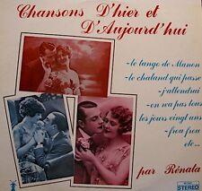 RENATA/VITTENET chansons d'hier & d'aujourd'hui LP le tango de manon/frou frou++