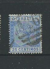 1889 Queen Victoria 25 cent Blue Used Sold as Per Scan