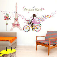 Paris Tower Girl Bike Room Home Decor Removable Wall Sticker Decal Decoration