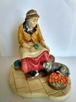 "RARE!! VINTAGE NATURECRAFT FIGURINE ENGLAND - ""THE FLOWER SELLER"" 1976"