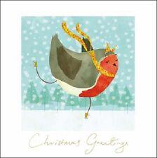 Confezione di 5 Robin British Heart Foundation carità biglietti di auguri Natale Card Pack