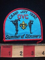 OVC 1992 CAMP JOY SUMMER OF DISCOVERY Patch - Boy Scout 77GG