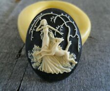 Lady and Deer cameo silicone push mold mould polymer clay resin Sugar Craft