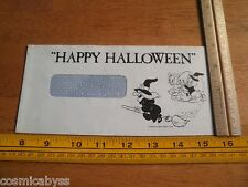 1975 Disneyland employees check mailing envelope Happy Halloween witch art nephw