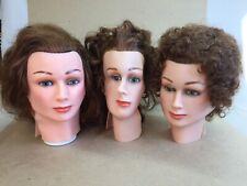 Dannyco 3 Slip-On Female Mannequin Heads &  One Plastic Head Block