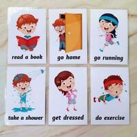Kids Early Learning Flashcard Preschool Educational Toys Sale For Children J7F0