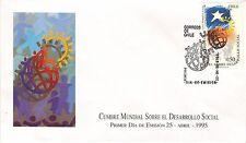 Chile 1995 FDC Cumbre Mundial Sobre el Desarrollo Social