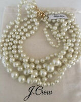 NWT J.Crew Factory MULTISTRAND PEARL NECKLACE