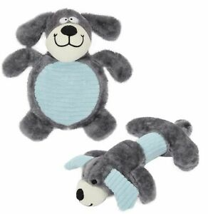 Pet Life Cozy Play Plush 2 Set Of Matching Squeaking Chew Dog Toys (DT30)