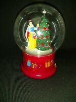 Gemmy Disney Snow White Waterless Christmas Snow Globe Musical Christmas Tree
