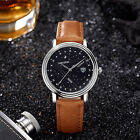 Men Luxury Watch Top Brand Stainless Steel Leather Strap Casual Quartz Watch AU