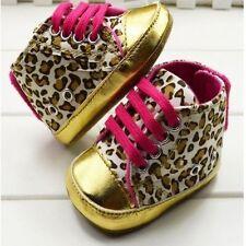 Newborn Baby Girls Canvas Shoes Trainers  Pre Walker Pram Crib Soft Sole 0-12