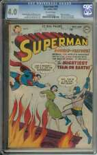 SUPERMAN #76 CGC 4.0 OW PAGES