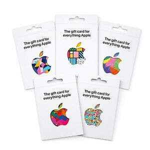 APPLE APP STORE ITUNES GIFT CARD DENOMINATION 25 50 100 200 APPS PHYSICAL CARDS