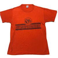 Vintage Samford University Graphic T Shirt Single Stitch Red Medium M Usa Russel