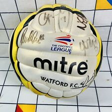 More details for signed watford fc football club mitre revo league ball with autographs size 5