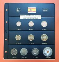SPAIN 2020 WHOLE COIN SET + HOJA DE PARDO + 2 EUROS MUDEJAR + 30€ SILVER HEROES