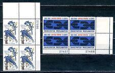 USA  2 Blocks of 4 1963 - SG No 1215 & 1223  MNH