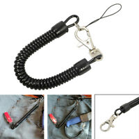2PCS Retractable Anti-lost Elastic Lanyard Spiral Spring Coil Rope Keychain US