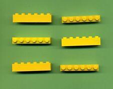 LEGO -- 3009 --- 1 x 6 -- Gialla -- BASIC -- 6 pezzi --