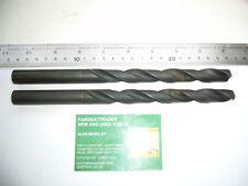 2 x VINTAGE 'CAPITAL' HSS TWO FLUTE TWIST DRILL BITS 14.5mm DIA     2451
