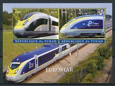 Chad 2018 CTO Eurostar High Speed Trains 2v M/S Railways Rail Stamps