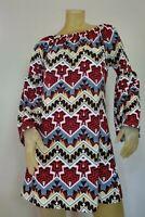 Women's West Loop Dress Geometric Bell Sleeves Size Medium