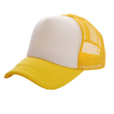 Snapback Trucker Baseball Cap Hat Men Women Mesh Adjustable Golf Era Peak Hat